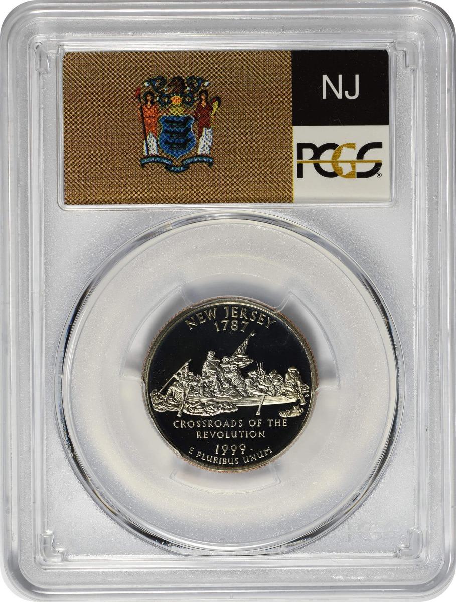 1999-S New Jersey State Quarter, PR69DCAM, Clad, PCGS
