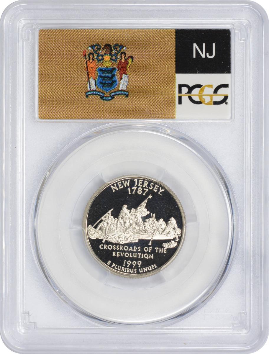 1999-S New Jersey State Quarter, PR70DCAM, Clad, PCGS