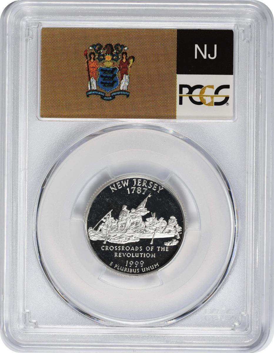 1999-S New Jersey State Quarter, PR69DCAM, Silver, PCGS