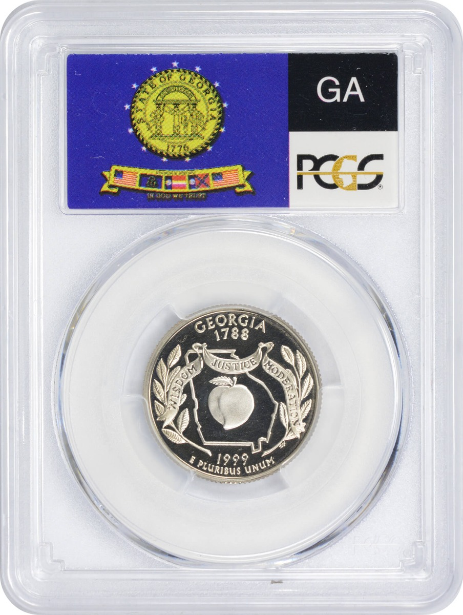 1999-S Georgia State Quarter, PR70DCAM, Clad, PCGS
