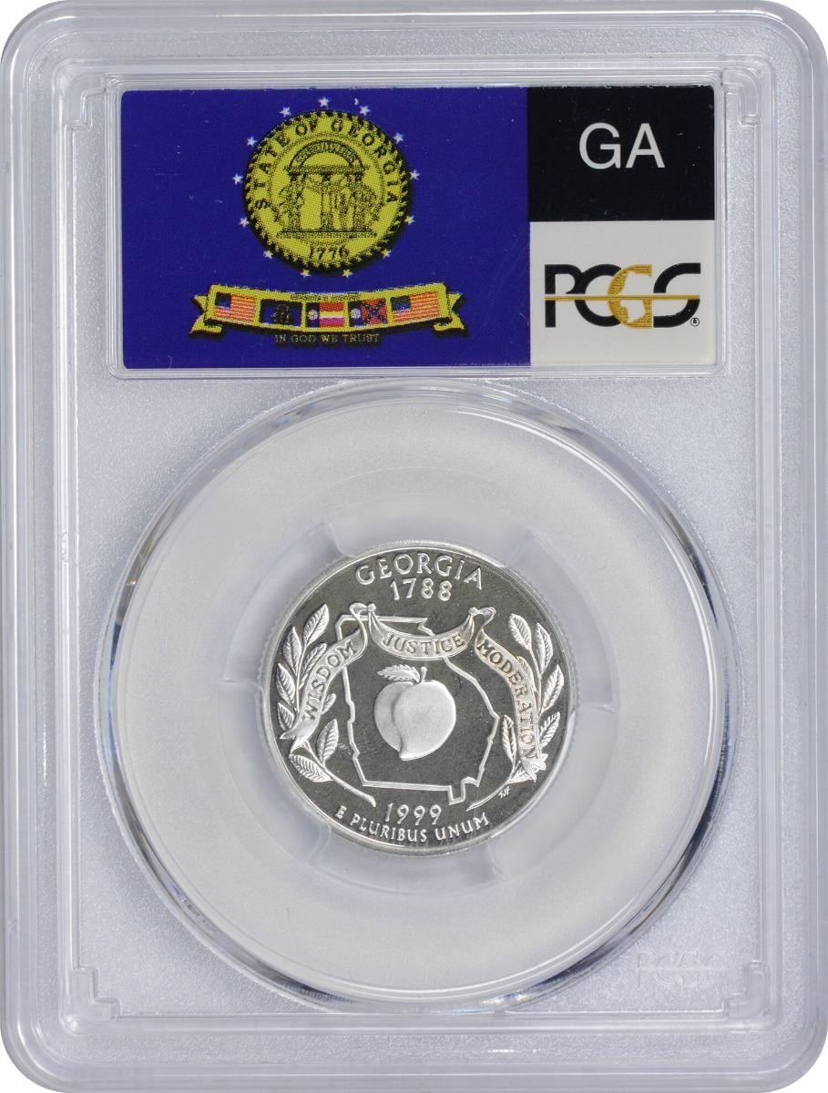1999-S Georgia State Quarter, PR70DCAM, Silver, PCGS