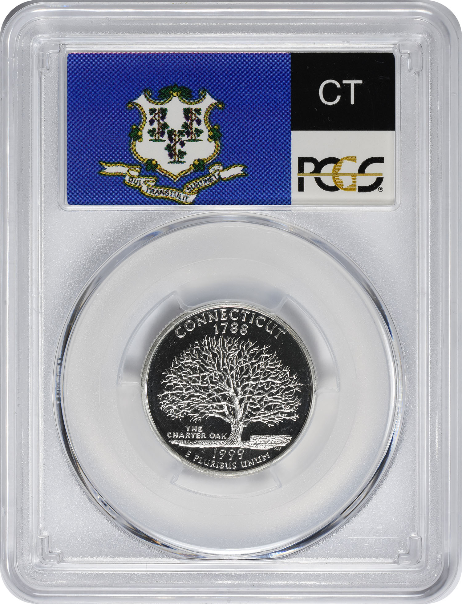 1999-S Connecticut State Quarter, PR69DCAM, Silver, PCGS