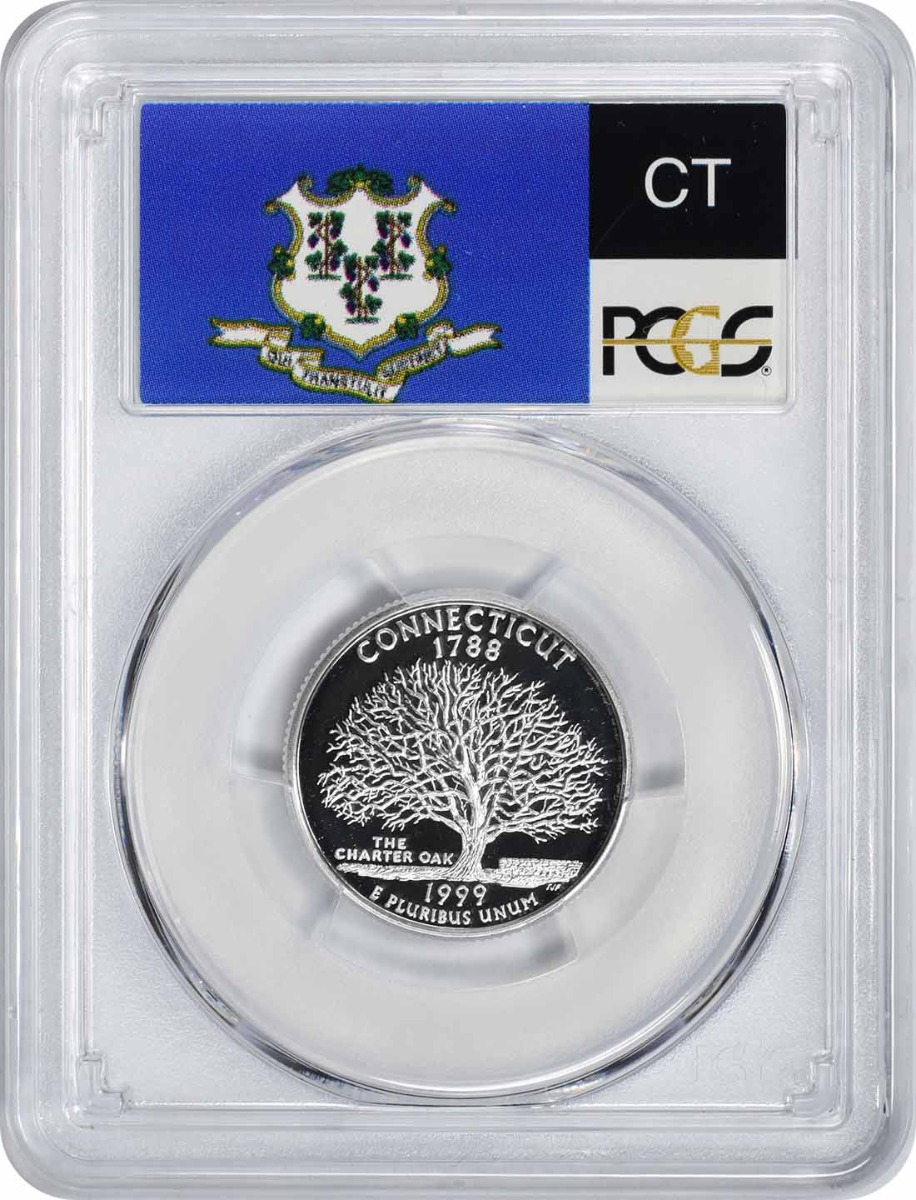 1999-S Connecticut State Quarter, PR70DCAM, Silver, PCGS