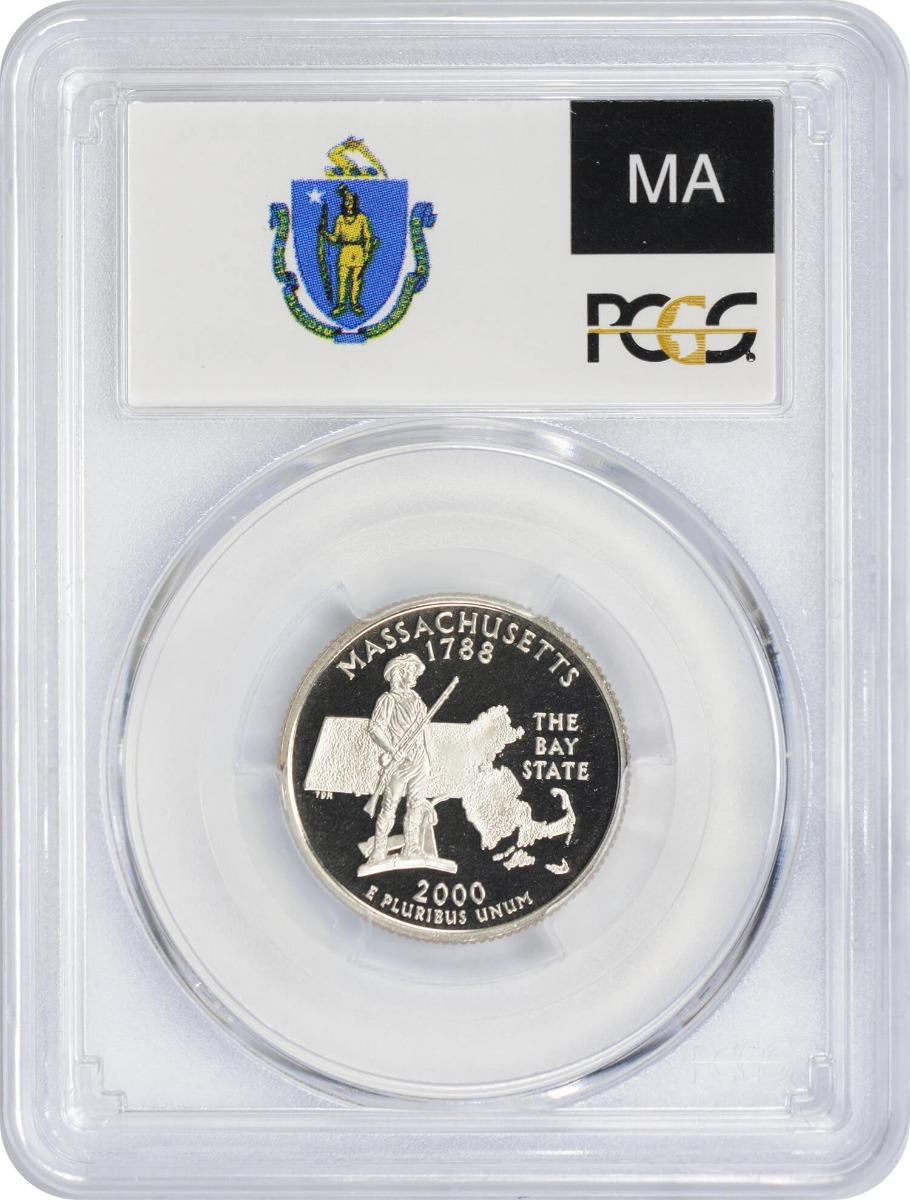2000-S Massachusetts State Quarter PR70DCAM Clad PCGS