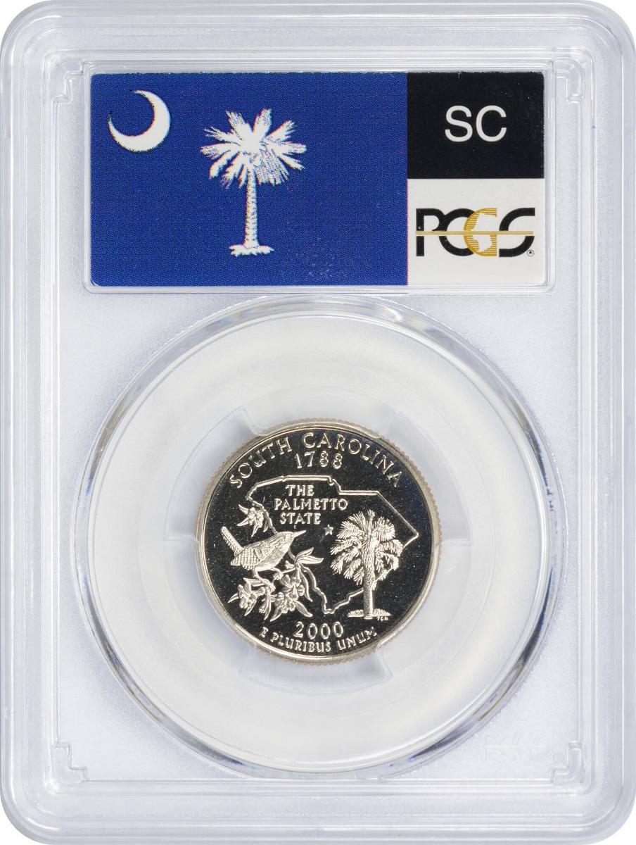 2000-S South Carolina State Quarter PR70DCAM Clad PCGS