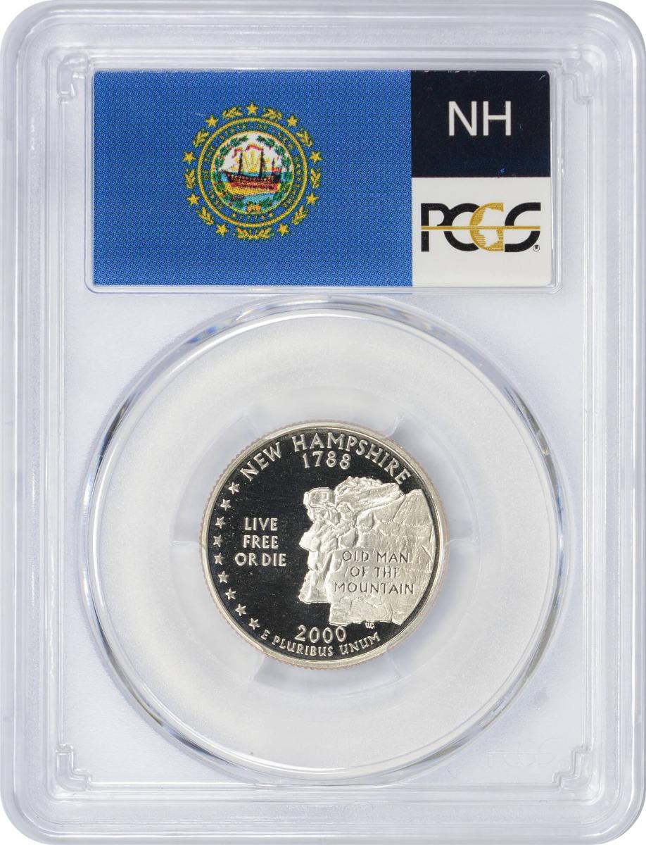 2000-S New Hampshire State Quarter, PR70DCAM, Clad, PCGS
