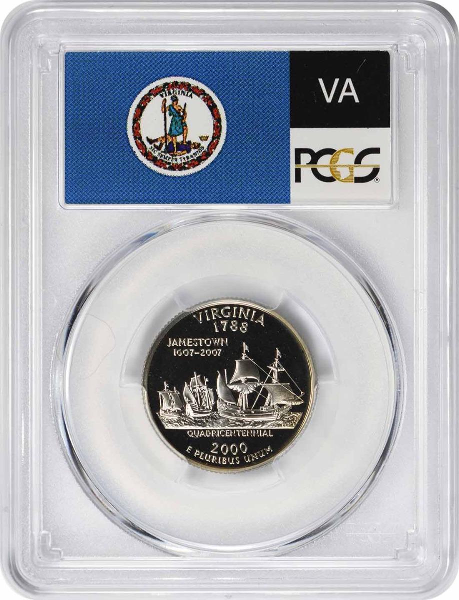 2000-S Virginia State Quarter, PR69DCAM, Clad, PCGS