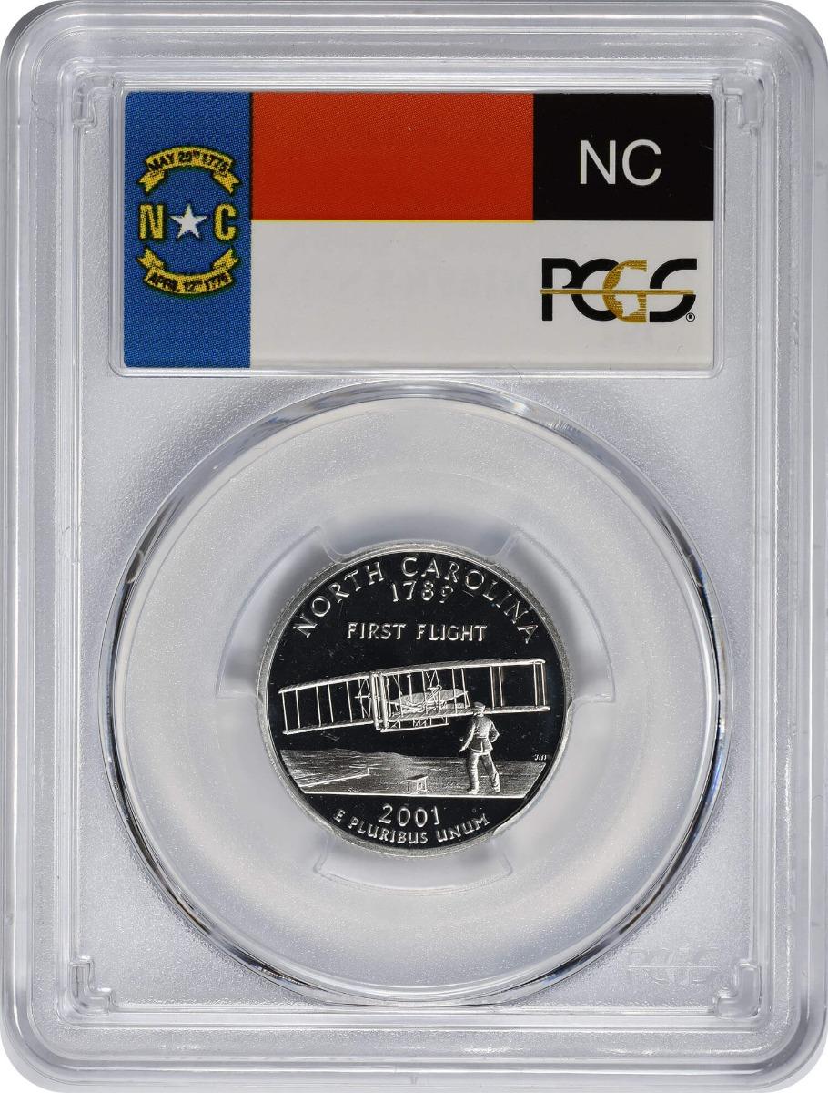 2001-S North Carolina State Quarter, PR69DCAM, Silver, PCGS