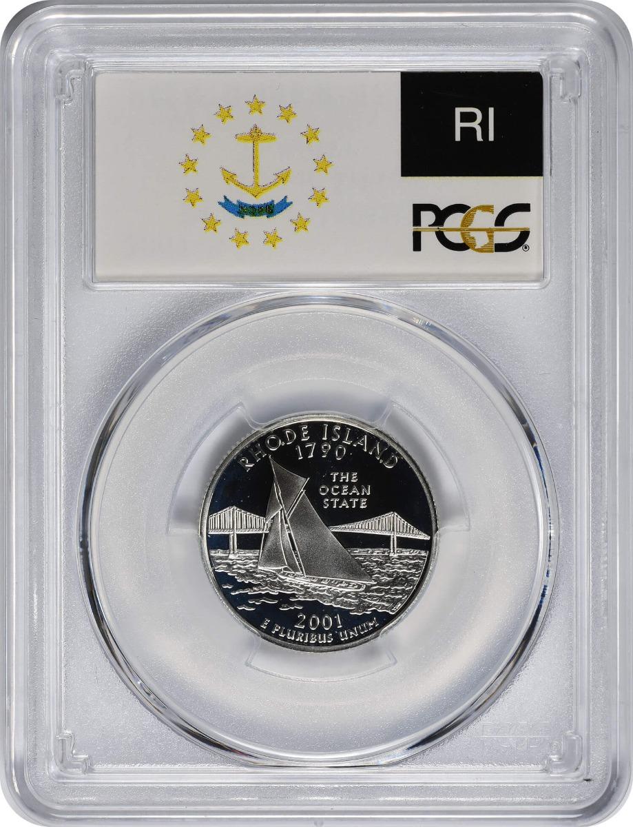 2001-S Rhode Island State Quarter, PR69DCAM, Silver, PCGS