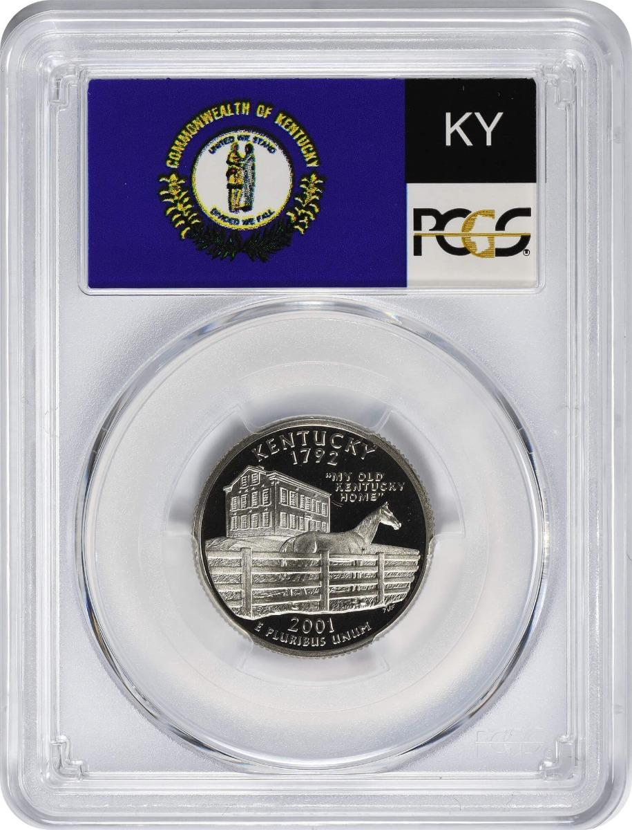 2001-S Kentucky State Quarter, PR69DCAM, Clad, PCGS