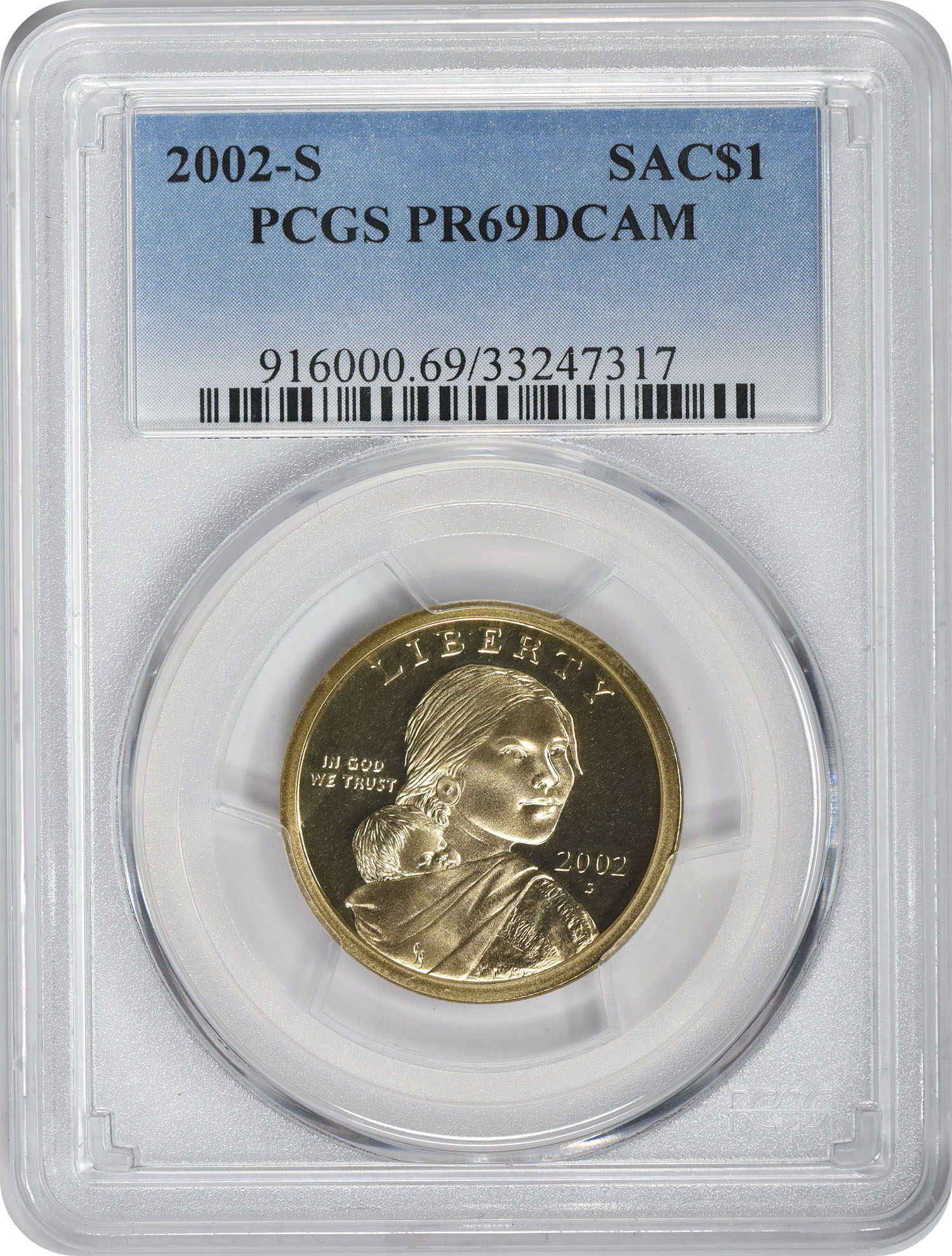 2002-S Sacagawea Dollar PR69DCAM PCGS