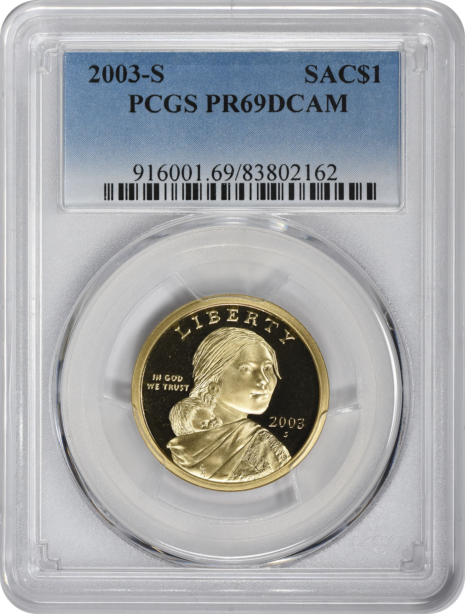 2003-S Sacagawea Dollar, PR69DCAM, PCGS