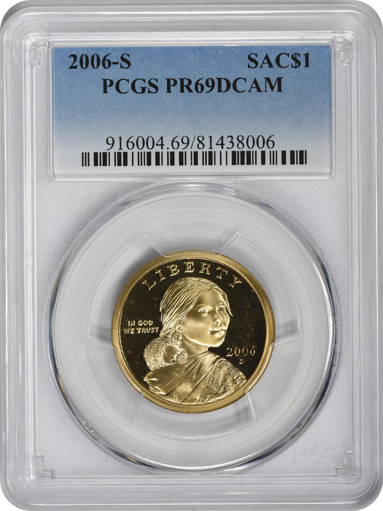 2006-S Sacagawea Dollar PR69DCAM PCGS