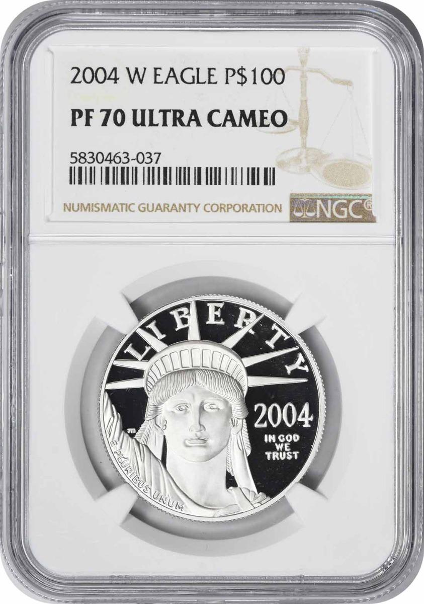 2004-W $100 American Platinum Eagle PR70UCAM NGC