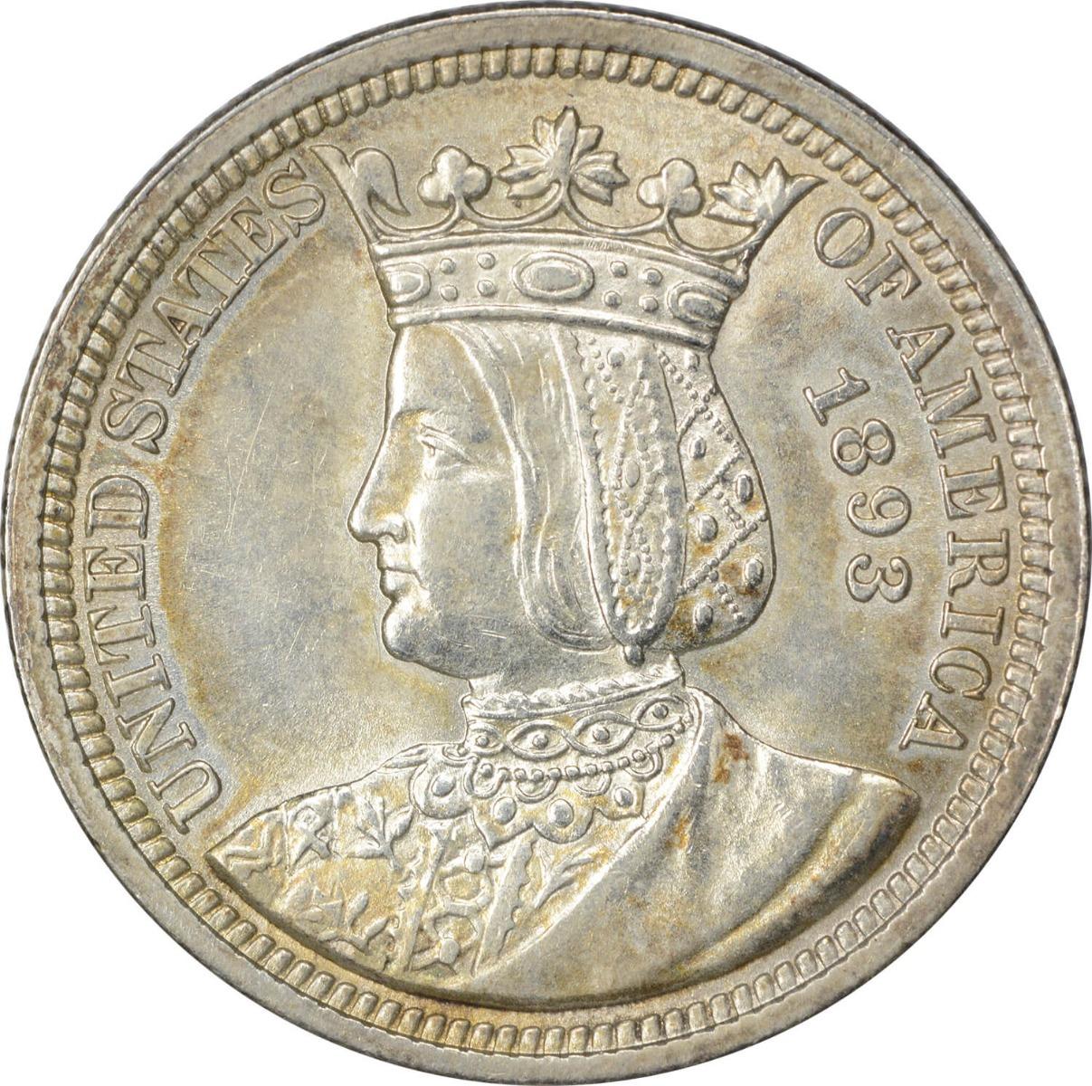 1893 Isabella Commemorative Quarter, AU, Uncertified