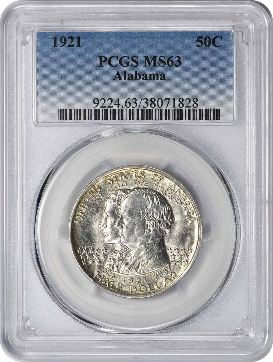 Alabama Commemorative Half Dollar 1921 MS63 PCGS