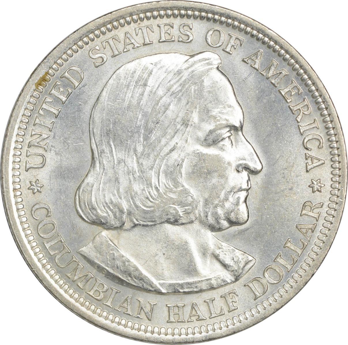 Columbian Commemorative Silver Half Dollar 1892 MS63 Uncertified