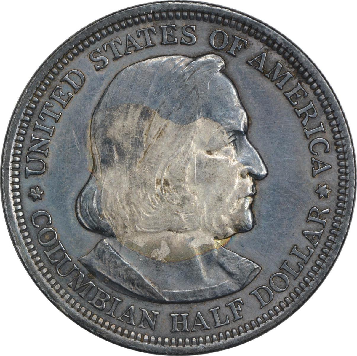 Columbian Commemorative Half Dollar 1892 EF Uncertified