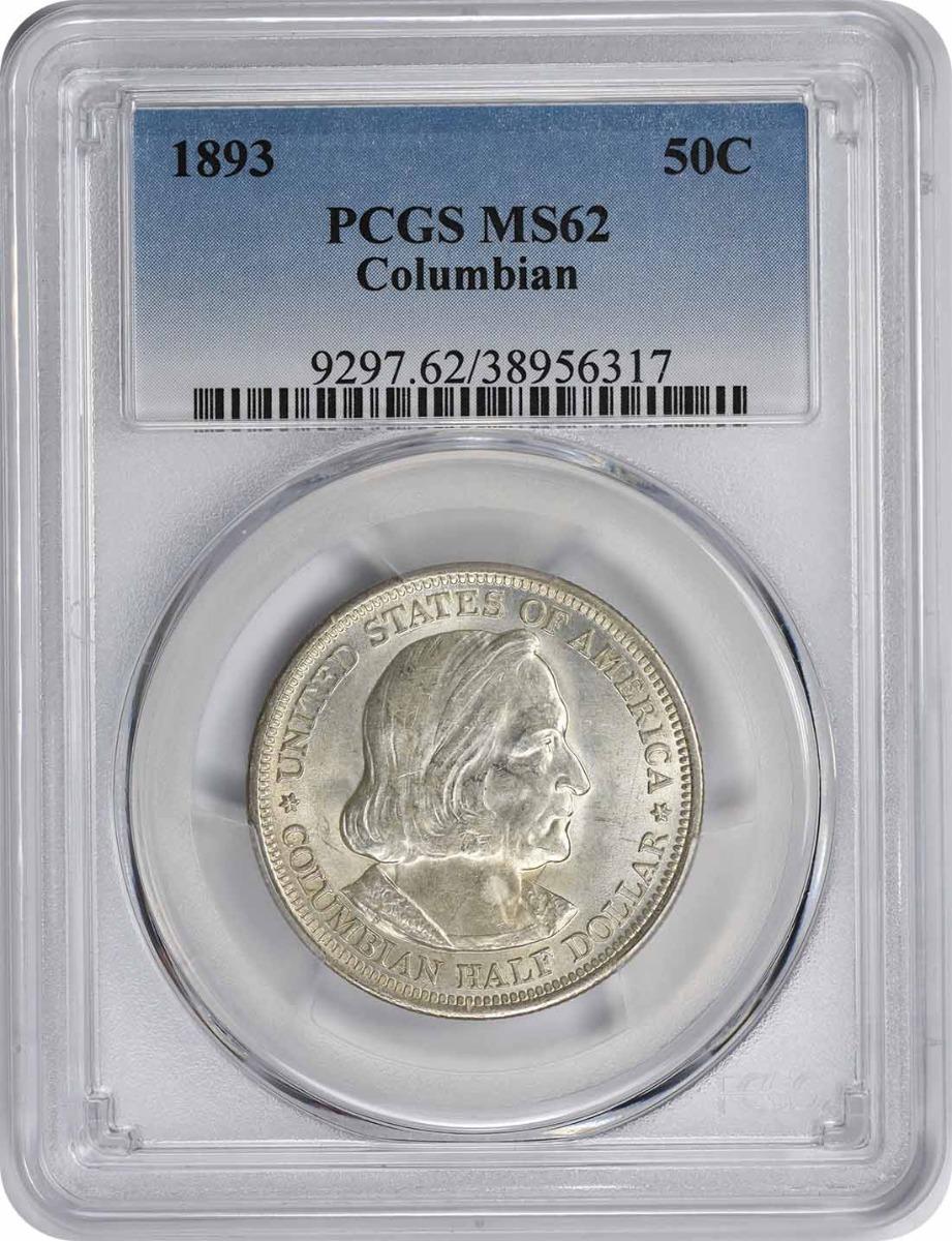 Columbian Commemorative Half Dollar 1893 MS62 PCGS