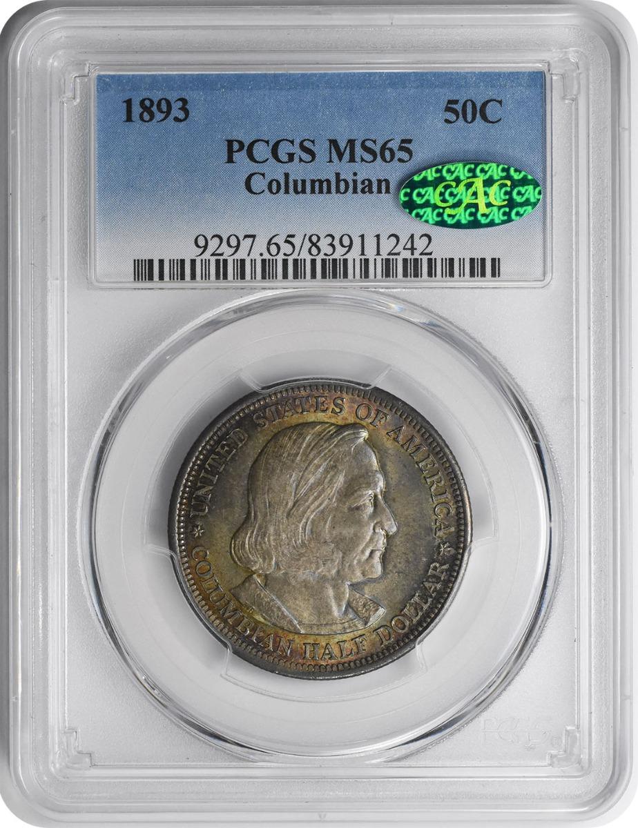 Columbian Commemorative Silver Half Dollar 1893 MS65 PCGS (CAC)