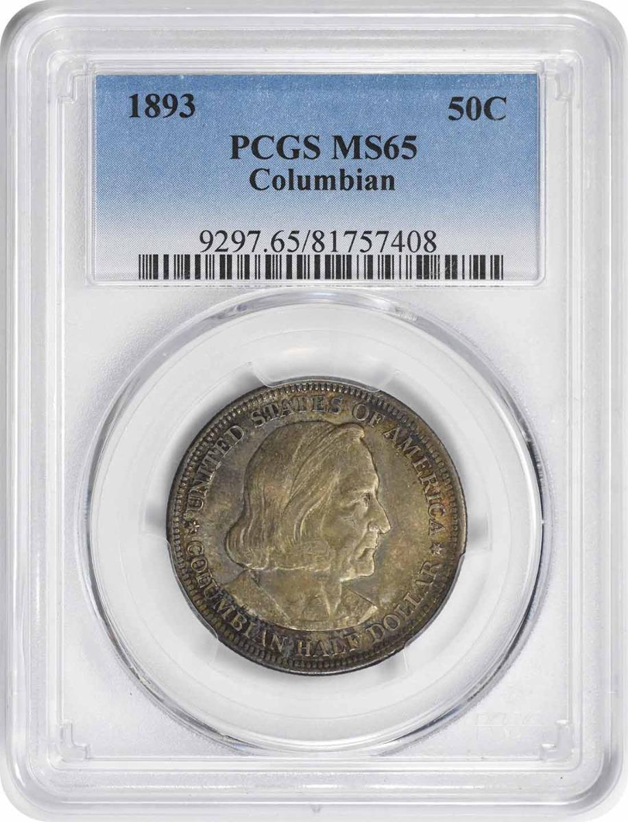 Columbian Commemorative Silver Half Dollar 1893 MS65 PCGS