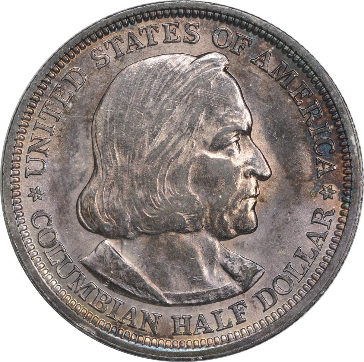Columbian Commemorative Half Dollar 1893 AU58 Uncertified