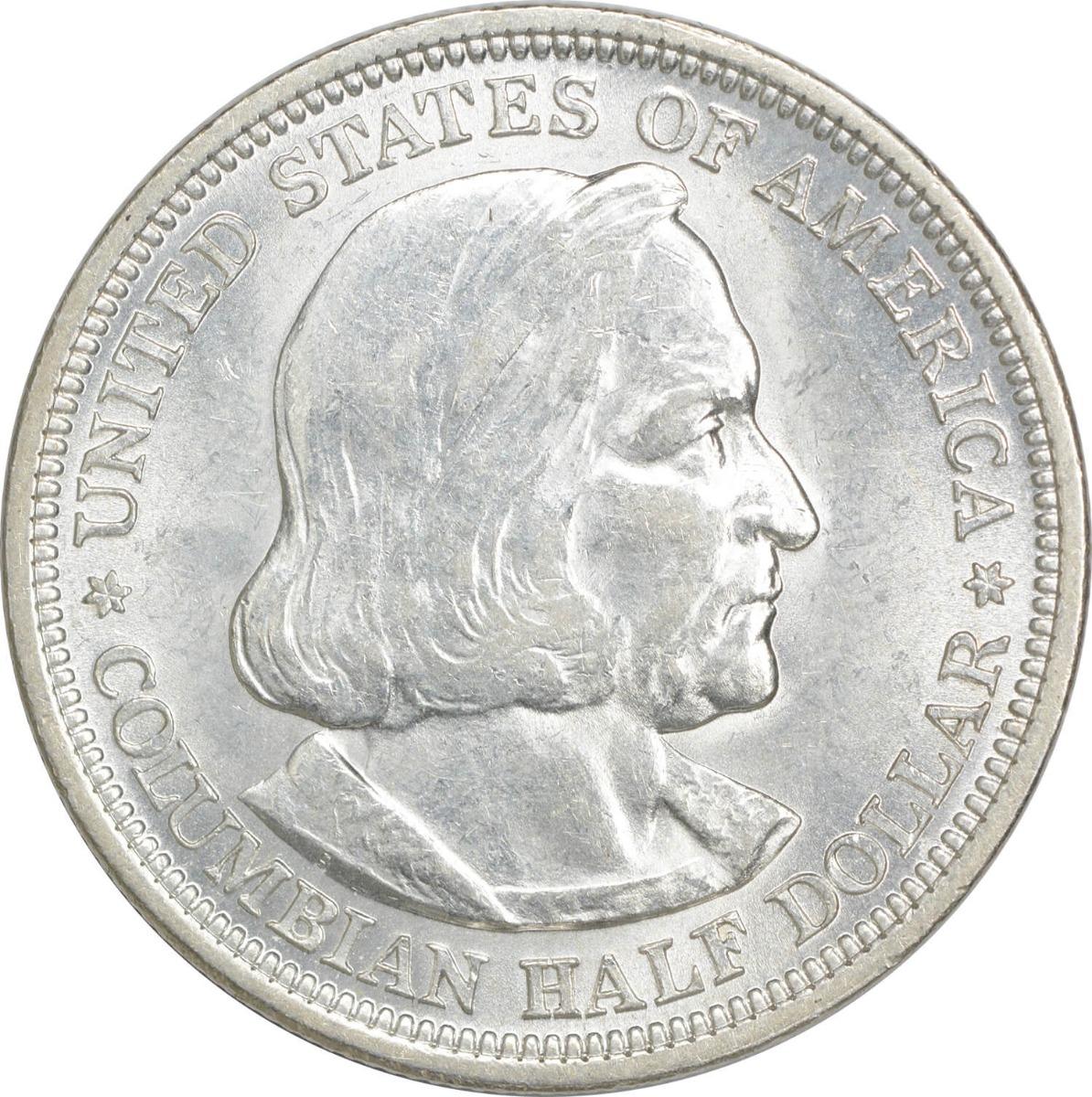 Columbian Commemorative Silver Half Dollar 1893 MS63 Uncertified