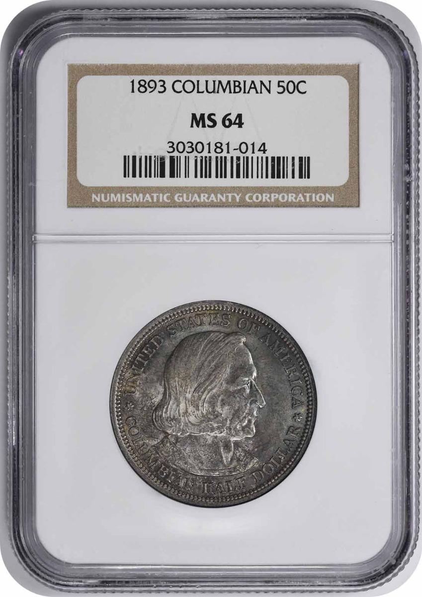 Columbian Commemorative Silver Half Dollar 1893 MS64 NGC