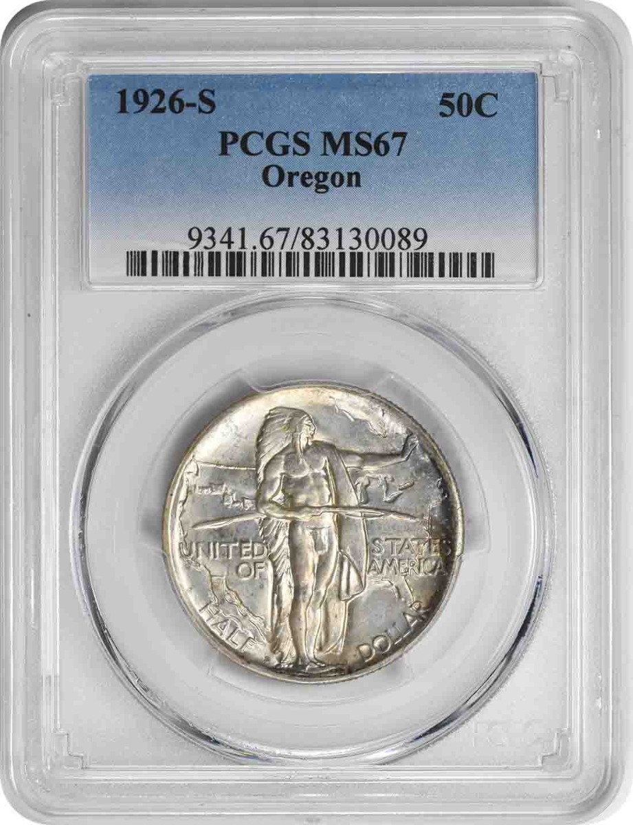 Oregon Commemorative Silver Half Dollar 1926-S MS67 PCGS
