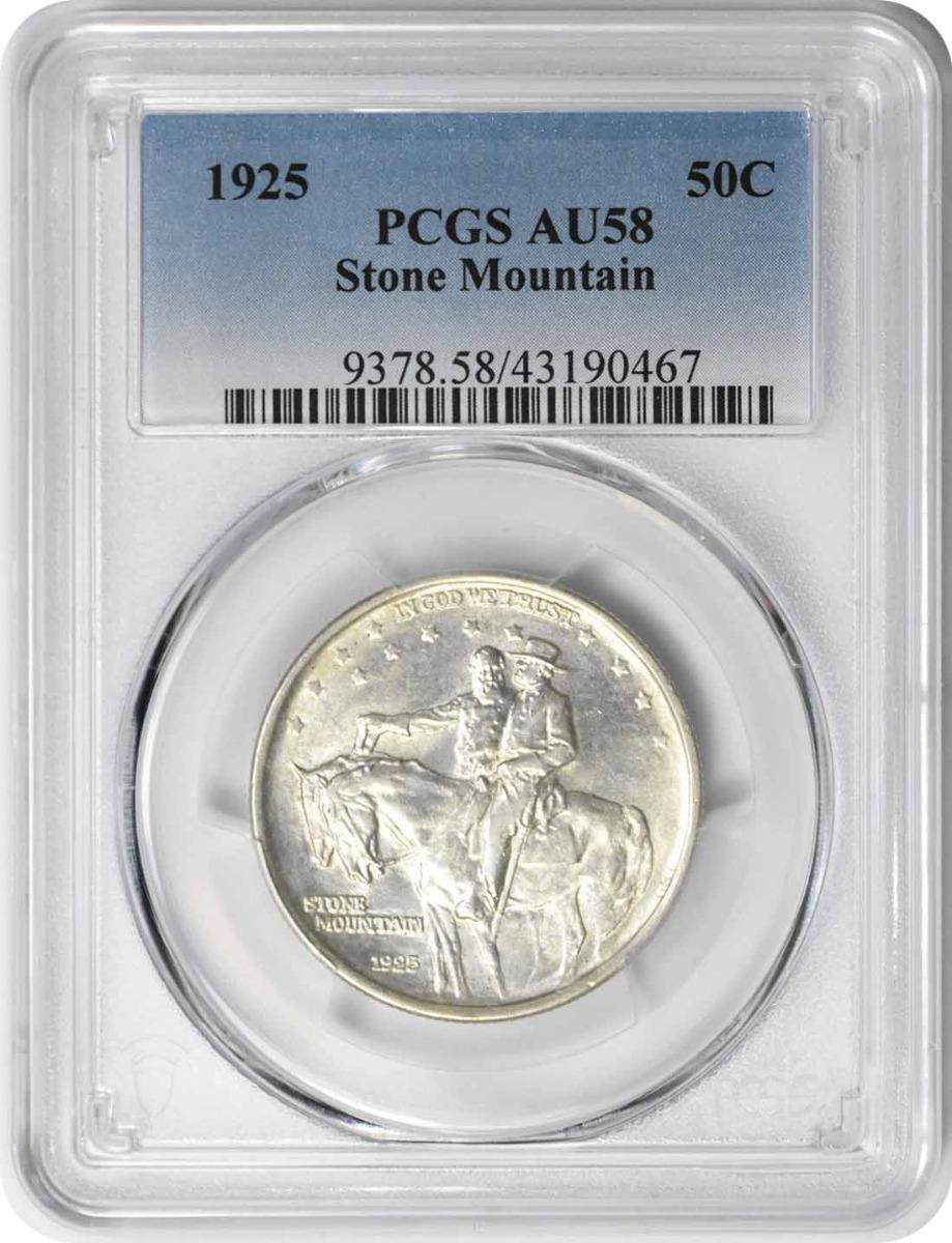 Stone Mountain Commemorative Silver Half Dollar 1925 AU58 PCGS