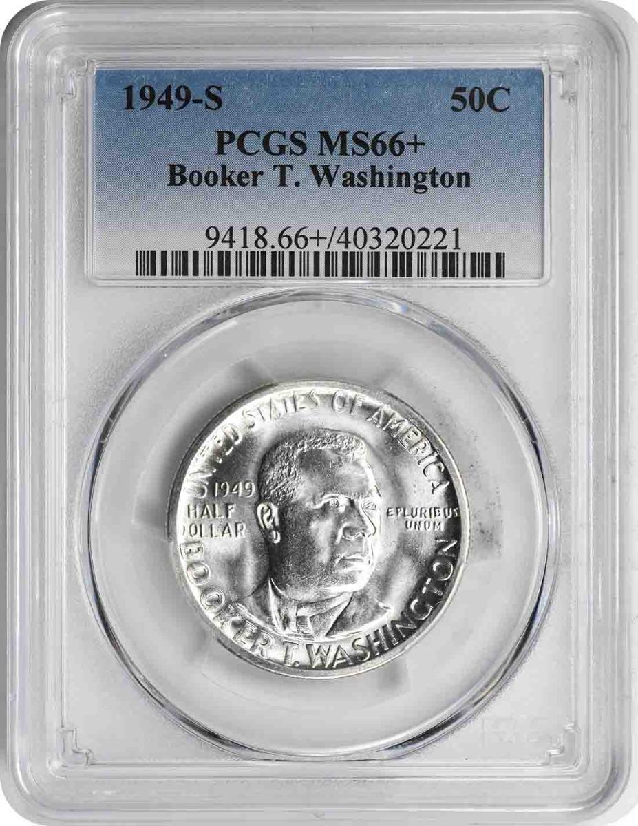 Washington (Booker T.) Commemorative Half Dollar 1949-S MS66+ PCGS