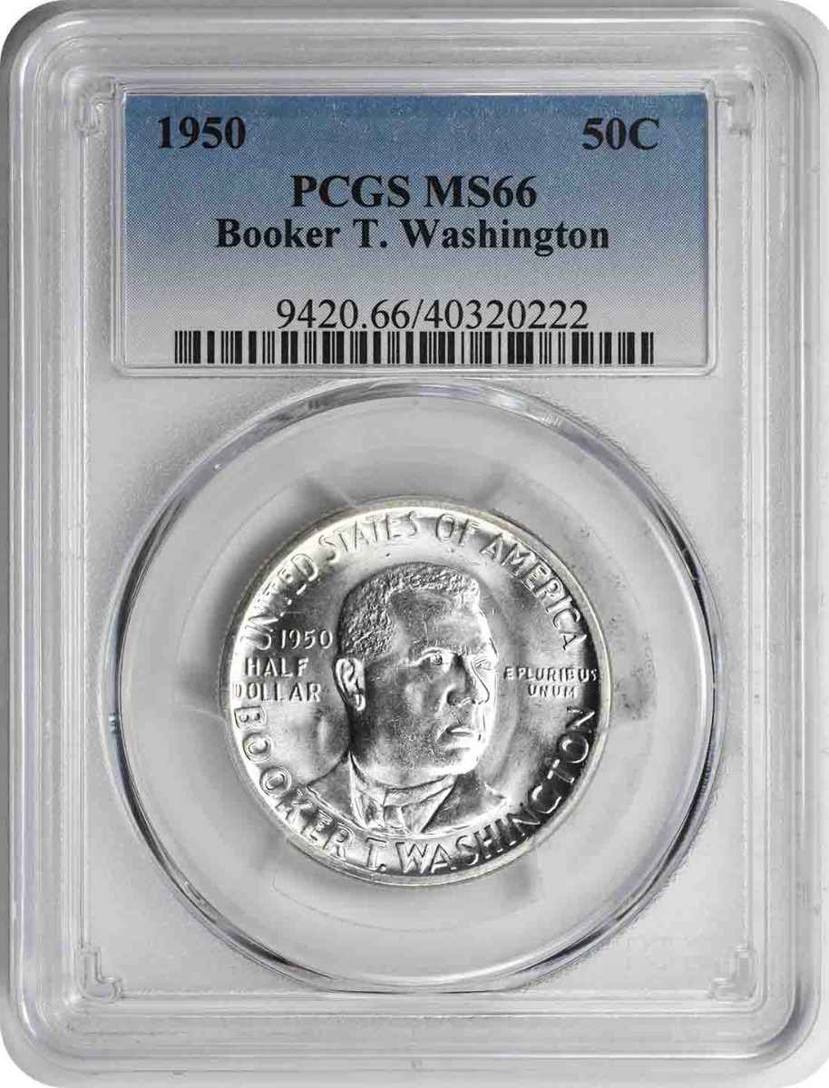 Washington (Booker T.) Commemorative Half Dollar 1950 MS66 PCGS