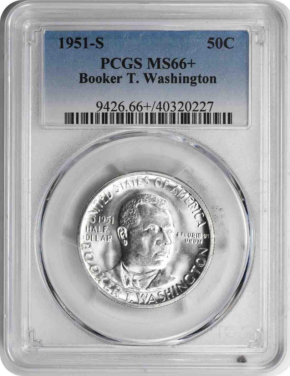 Washington (Booker T.) Commemorative Half Dollar 1951-S MS66+ PCGS