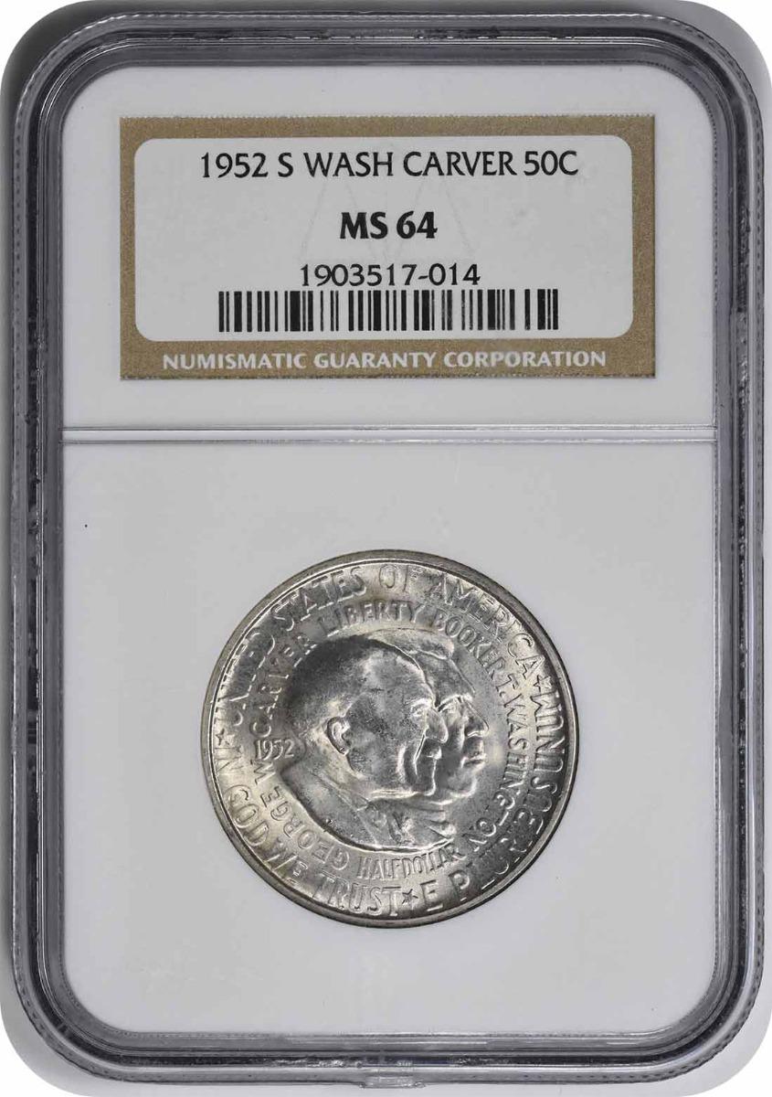 W. Carver Commemorative Silver Half 1952-S MS64 NGC