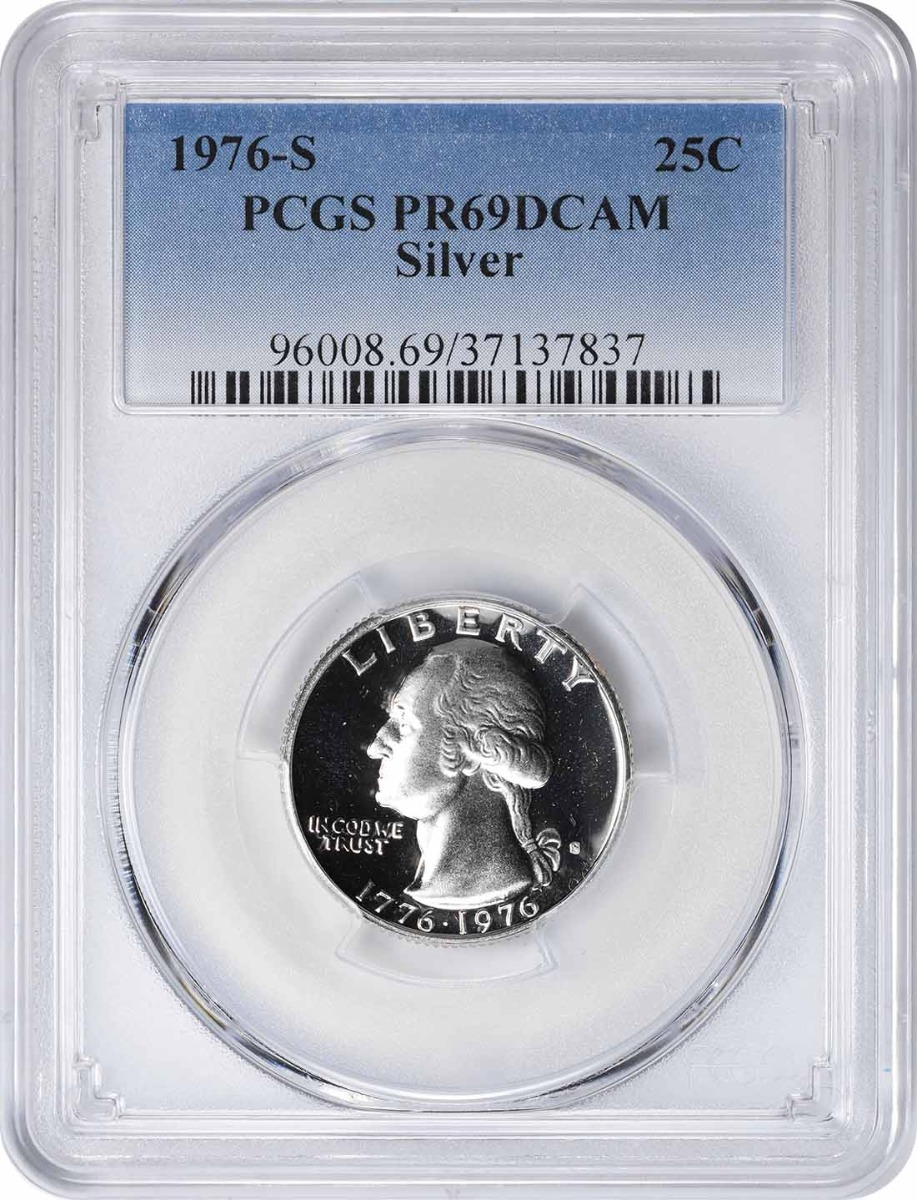 1976-S Washington Quarter PR69DCAM Silver PCGS
