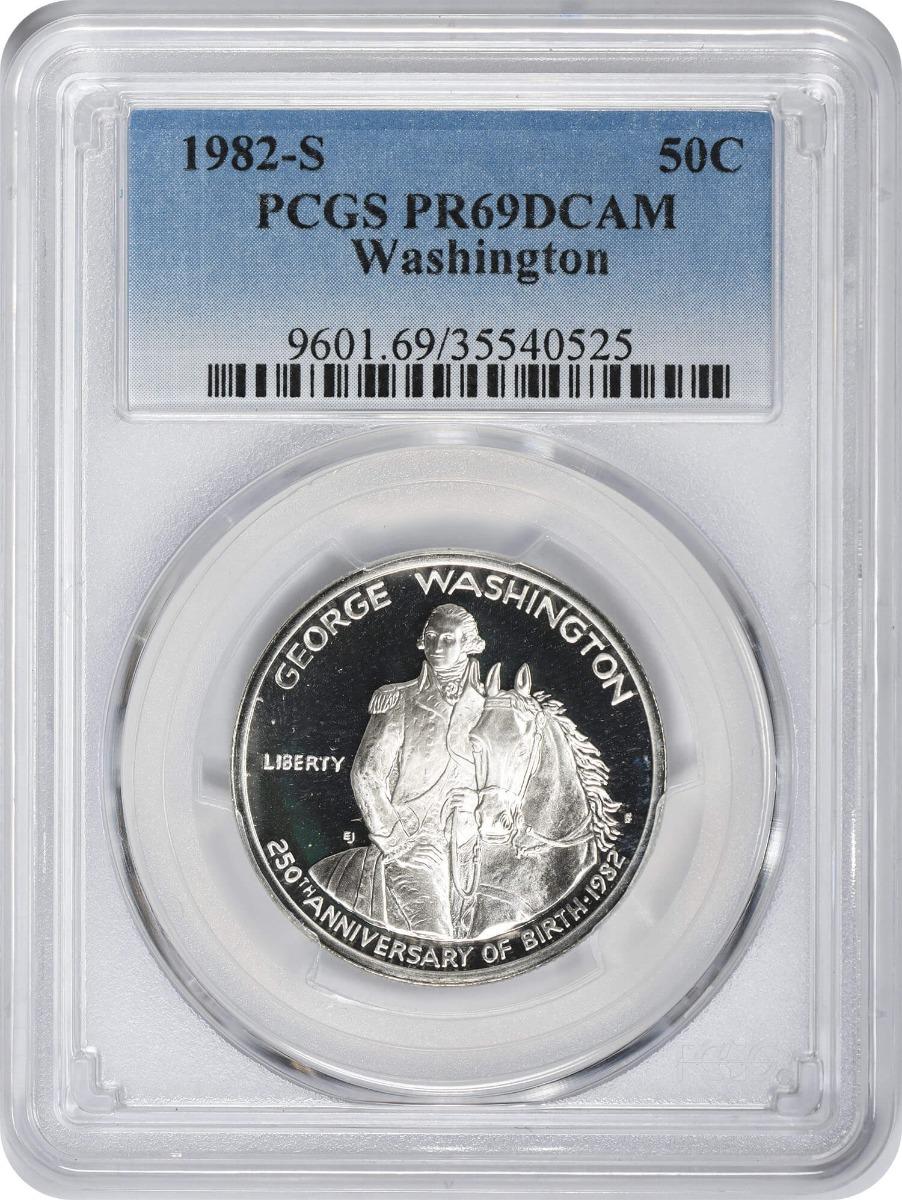 1982-S Washington Commemorative Half Dollar, PR69DCAM, PCGS