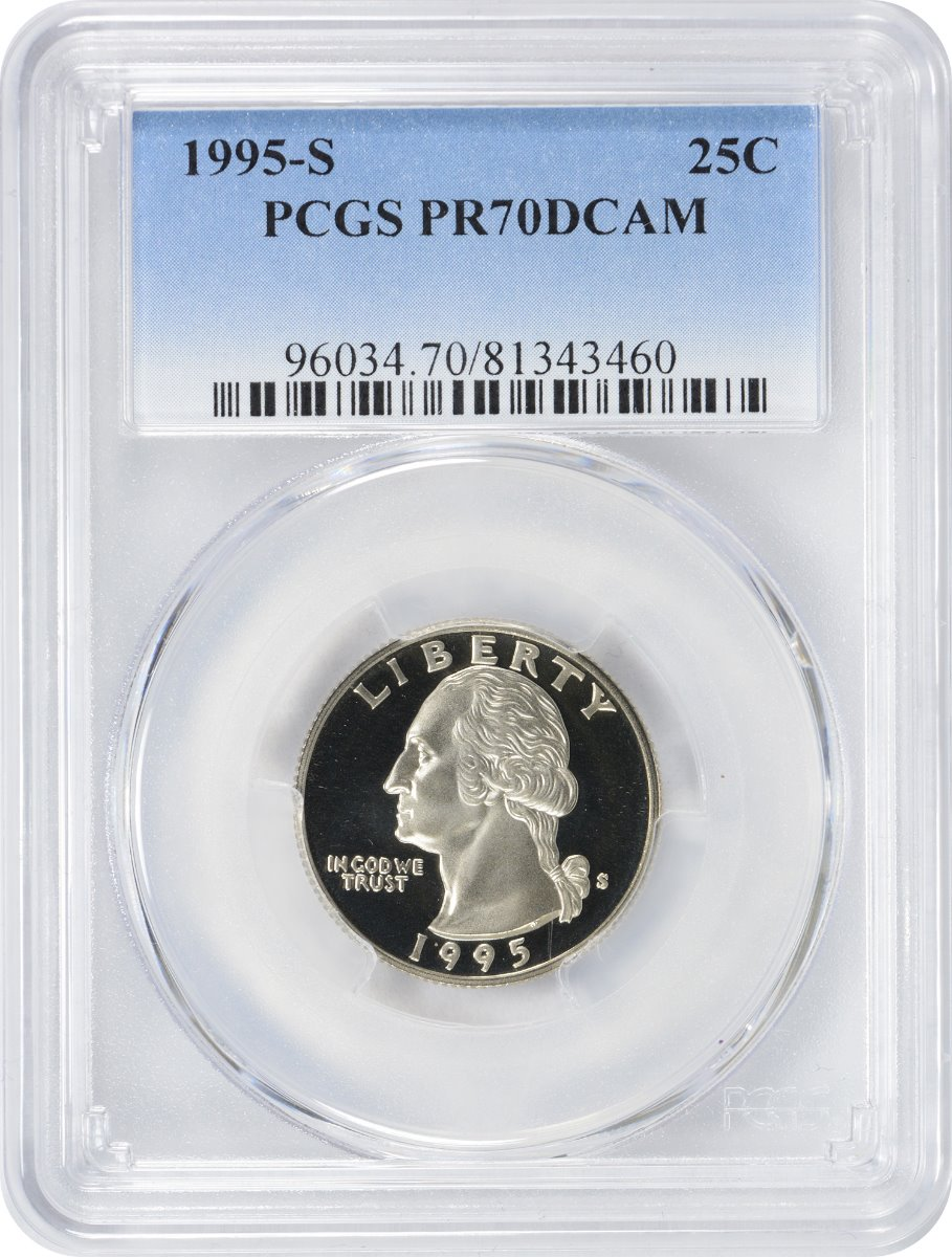 1995-S Washington Quarter, PR70DCAM, Clad, PCGS