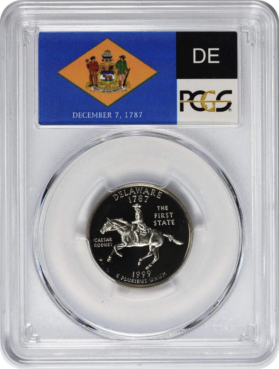 1999-S Delaware State Quarter, PR69DCAM, Clad, PCGS