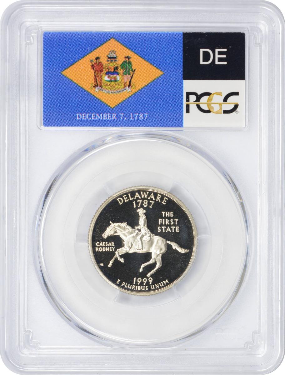 1999-S Delaware State Quarter, PR70DCAM, Clad, PCGS
