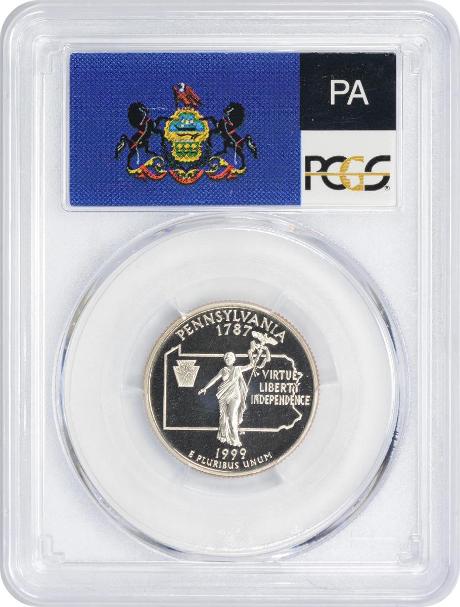 1999-S Pennsylvania State Quarter PR70DCAM Clad PCGS