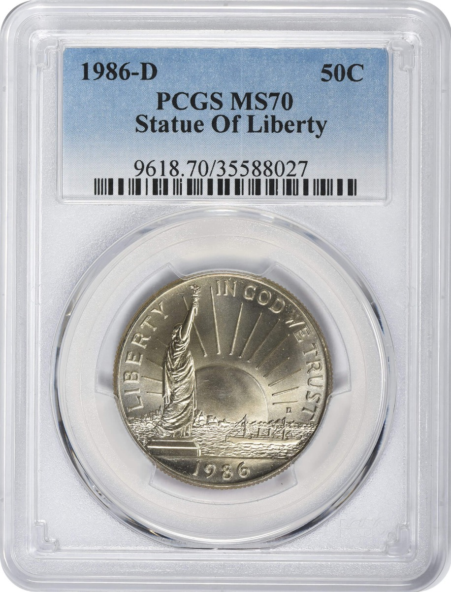 1986-D Statue of Liberty Commemorative Half Dollar MS70 PCGS