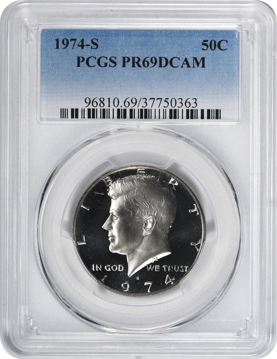 1974-S Kennedy Half Dollar, PR69DCAM, PCGS