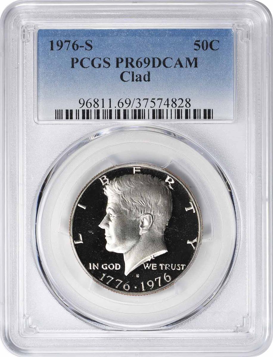 1976-S Kennedy Half Dollar, PR69DCAM, Clad, PCGS