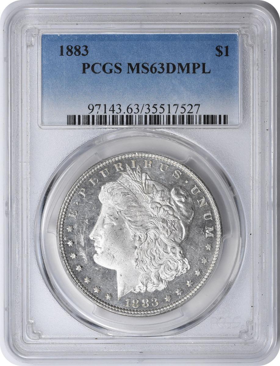 1883 Morgan Silver Dollar MS63DMPL PCGS
