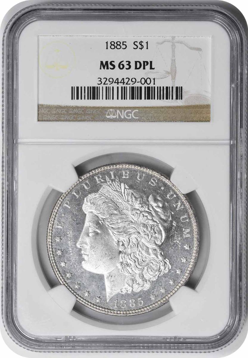 1885 Morgan Silver Dollar MS63DPL NGC