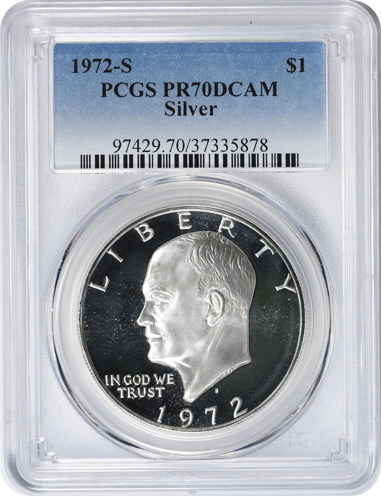 1972-S Eisenhower Dollar PR70DCAM Silver PCGS