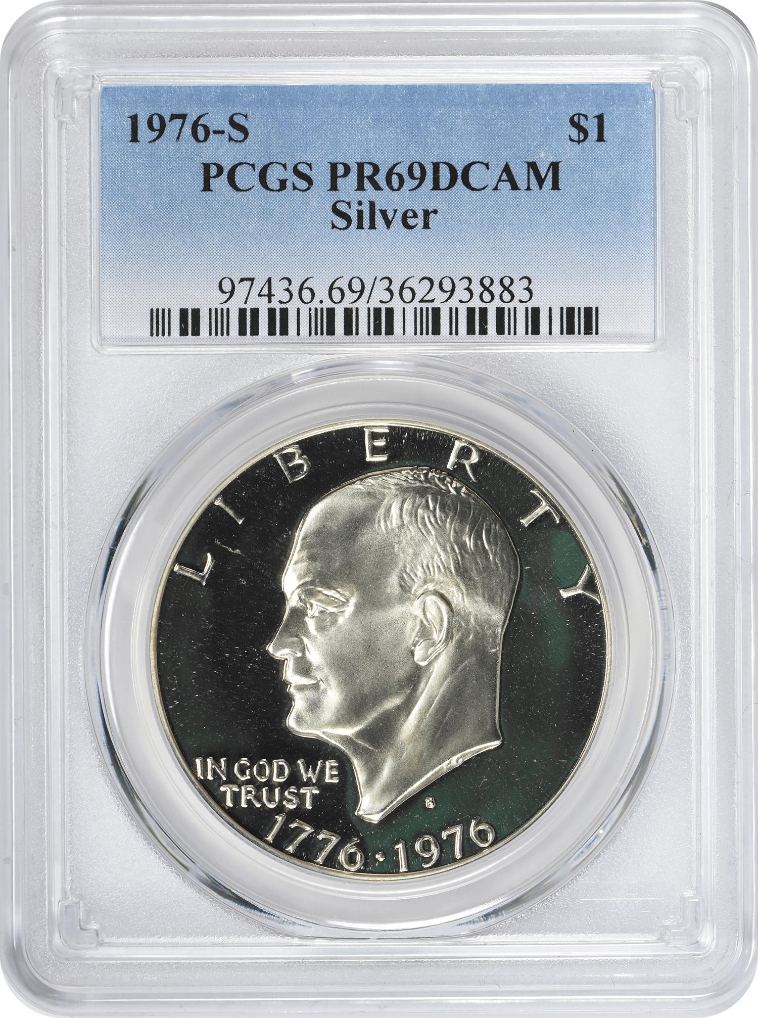 1976-S Eisenhower Dollar PR69DCAM Silver PCGS