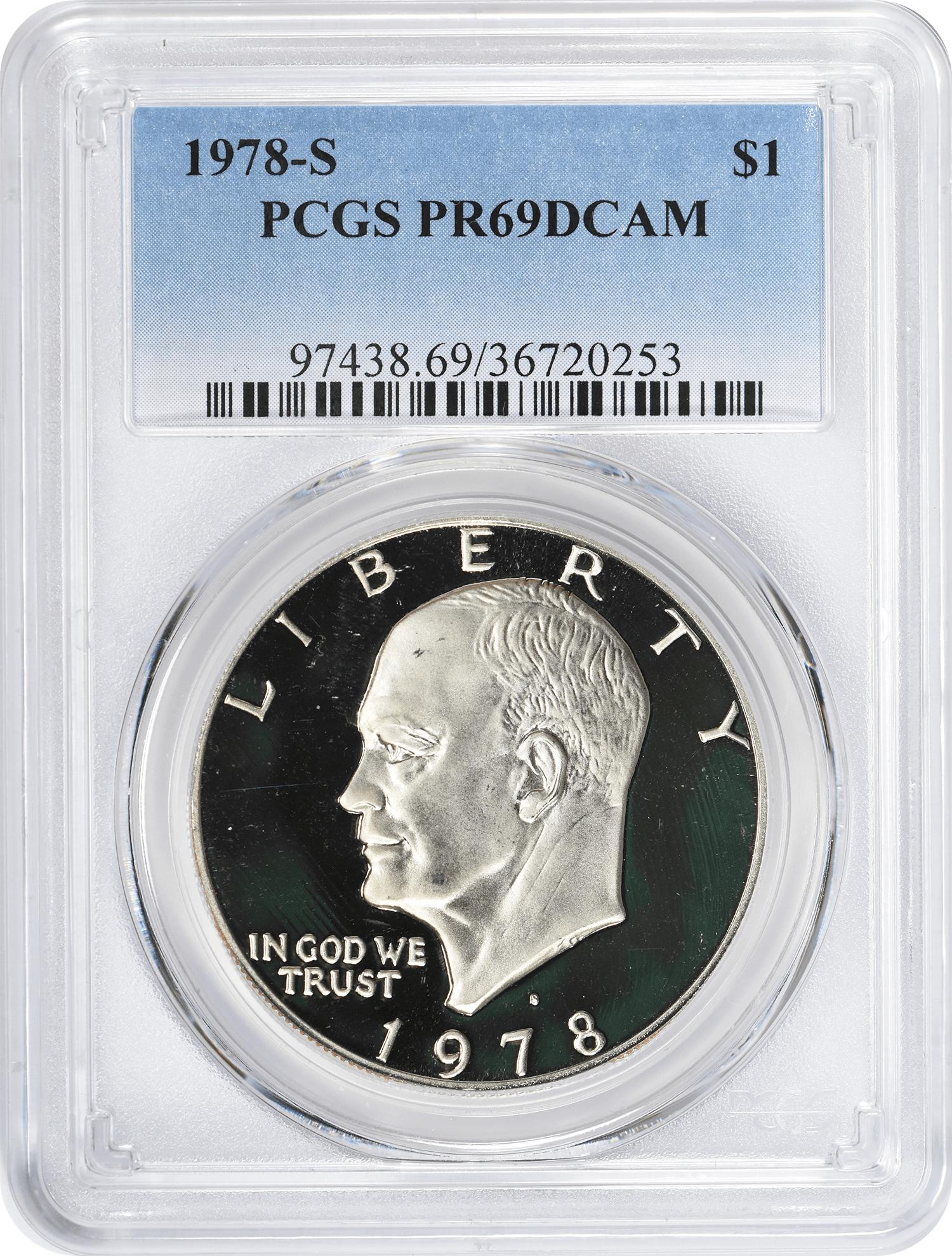 1978-S Eisenhower Dollar PR69DCAM Clad PCGS