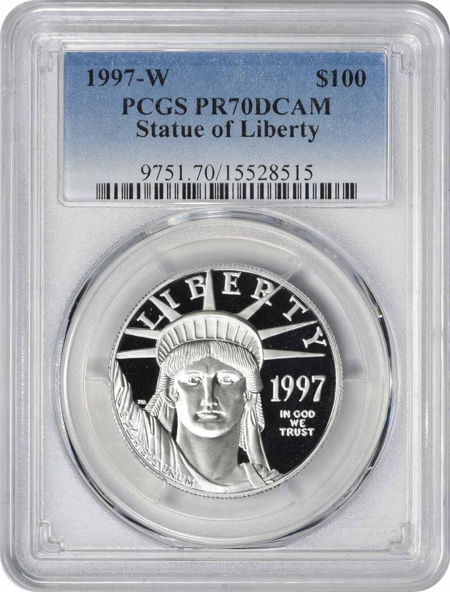 1997-W $100 American Platinum Eagle PR70DCAM PCGS