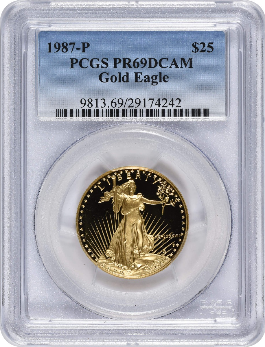 1987-P $25 American Gold Eagle PR69DCAM PCGS